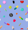 seamless pattern of colorful pills vector image