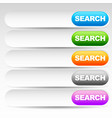 search bars boxes with colorful buttons ui vector image