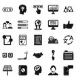 seo interface icons set simple style vector image vector image