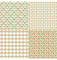 set of abstract patterns vector image vector image
