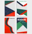 set of annual report brochures flyers design vector image vector image