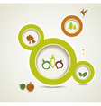 Set of organic and farm fresh food bubbles vector image vector image