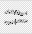 sheet music4 vector image vector image