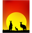 Silhouette of the kangaroo family vector | Price: 1 Credit (USD $1)