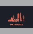 skyline san francisco flat vector image vector image