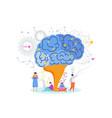 smart brain tree knowledge metaphor study vector image vector image
