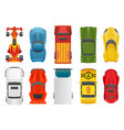 sport and racing cars top view decorativeicons set vector image