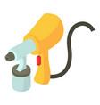 spray gun icon isometric 3d style vector image vector image