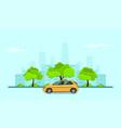 taxi service concept vector image vector image