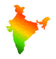 tricolor indian flag map background for republic vector image vector image