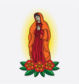 virgin mary traditional tattoo vector image
