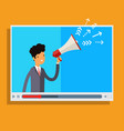 web advertising and spam concept vector image vector image