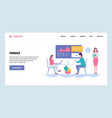 web site gradient design template vector image vector image
