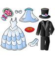 wedding clothes collection vector image