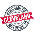 welcome to Cleveland red round vintage stamp vector image vector image