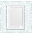 White picture frame on winter background vector image vector image