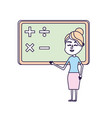 woman teacher teaching to the student in the vector image vector image