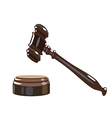 Wooden gavel vector image