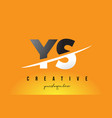 ys y s letter modern logo design with yellow vector image vector image