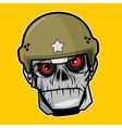 zombie head - the soldier vector image vector image