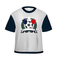 Soccer t shirt vector image