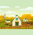 horizontal spring village landscape vector image