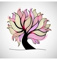 Bright colorful tree with branches and leaves vector image