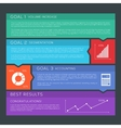 Flat Style Options Banners Background vector image