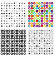 100 sports exhibition icons set variant vector image vector image