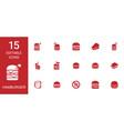 15 hamburger icons vector image vector image