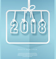 2018 sign in frame hanging on ribbon vector image