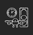 aircraft rental chalk white icon on black vector image