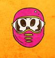 Alien in Safety Mask Cartoon vector image vector image
