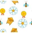Apiary pattern cartoon style vector image
