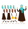 arab woman constructor heads and body parts vector image