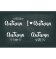 Autumn white handwritten set Autumn logos and vector image vector image