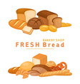 bakery pastry products vector image vector image