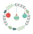 balls wreath berry decoration celebration merry vector image vector image