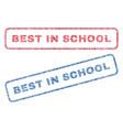 best in school textile stamps vector image vector image