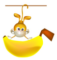 big banana vector image