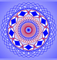 blue white red round pattern kaleidoscope mandala vector image