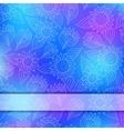 bright invitation card with lace ornament vector image