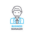 business manager concept outline icon linear vector image vector image