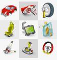 car accessories icon set vector image vector image