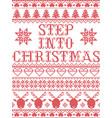 christmas pattern step into christmas carol vector image vector image