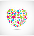 colorful dots on heart shape vector image vector image