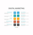 digital marketing infographic 10 option concept vector image vector image