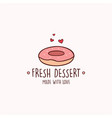 donuts fresh bakery and dessert logo template vector image