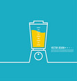 electric kitchen appliance blender vector image vector image
