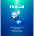 first aid poster of isometric color design vector image vector image